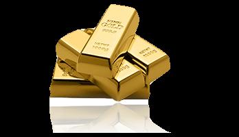 Goldsparplan mit gespiegelten große Gold Barren